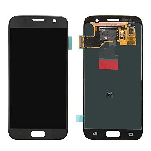 Pantallas LCD para teléfonos móviles Pantalla LCD Pantalla táctil Digitalizador Reemplazo/Ajuste para Samsung Galaxy S7 G930A G930F SM-G930F LCD + Herramienta (Color : Black)