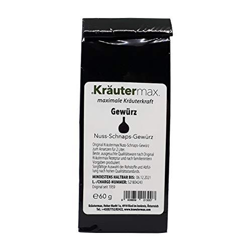 Kräutermax Nuss-Schnaps Gewürz 1 x 60 g für 2 Liter zum Selber Machen