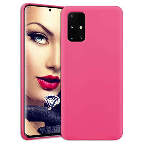 mtb more energy® Soft Silikon Hülle für Xiaomi Mi 10T Lite 5G (6.67'') - hot pink - Ultra Silk Touch - Liquid Silicone Hülle Handyhülle Cover Tasche