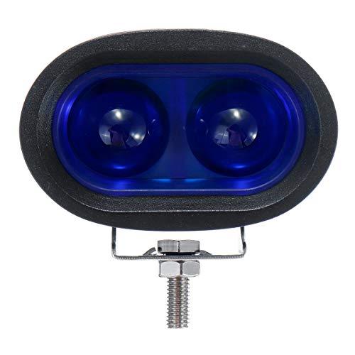 Faro de Motocicleta universal, 9V-60V 20W IP67 LED que advierte la lámpara de señal de la carretilla elevadora trabajo de zona de seguridad azul claro Piezas de motos