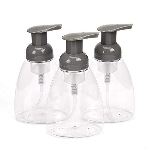 ULG Dispensadores de jabón espumosos Botellas de Bomba 300 ml (10 oz) Espuma líquida vacía Contenedores de jabón para Manos BPA Botellas de plástico sin prensado para Cocina y baño Paquete de 3