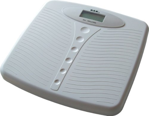 150kg/100g A4 DESIGN Personenwaage Digitalwaage G&G