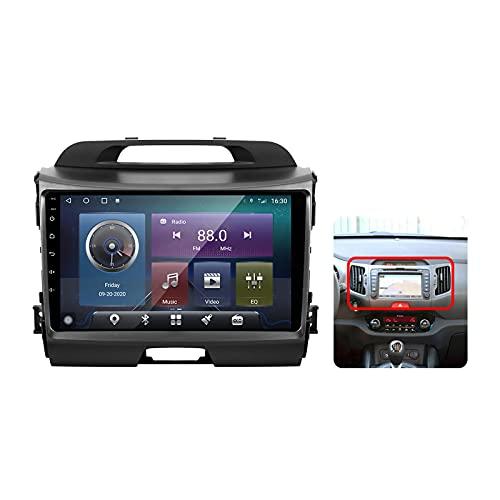 Android 10 Autoradio multimediale con 9 Pollici Screen per Kia Sportage 3 SL 2010-2016 Supporta la Navigatore GPS/DSP Stereo Auto BT/FM AM RDS Radio/Controllo del Volante/Carplay Auto,Plug c,M300S