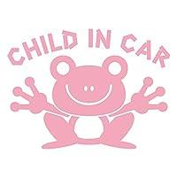 imoninn CHILD in car ステッカー 【パッケージ版】 No.22 カエルさん (ピンク色)