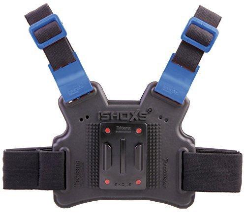 iSHOXS Taktsang Prowear, GoPro Chest Mount Altamente Flexible, Perfectamente Adaptable al Cuerpo, Placa Base elástica con Pieza de Seguridad Deslizante Intercambiable