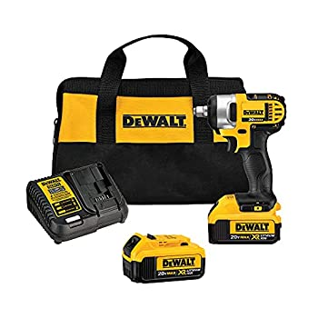 DEWALT 20V MAX Cordless Impact Wrench Kit with Hog Ring 1/2-Inch  DCF880HM2