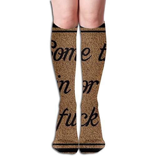 Kommen Sie zum Ficken oder Ficken Sie zum Ficken Männer Frauen Baumwolle Crew Athletic Socke Laufen Socken Fußball Socken 19,7 Zoll (50Cm)
