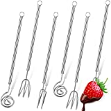 6 Pieces Chocolate Dipping Fork Set Stainless Steel Candy Dipping Tools Candy Melts Fondue Forks for...