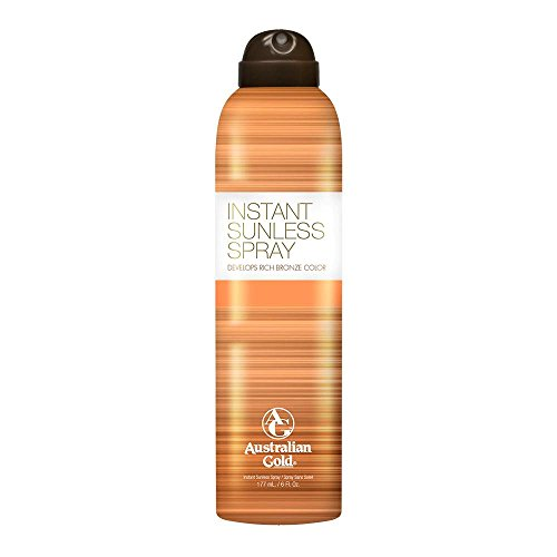 Australian Gold Instant Sunless Tanning Spray, 6 Ounce| Rich Bronze Color with Fade Defy Technology | Energizes & Softens Skin