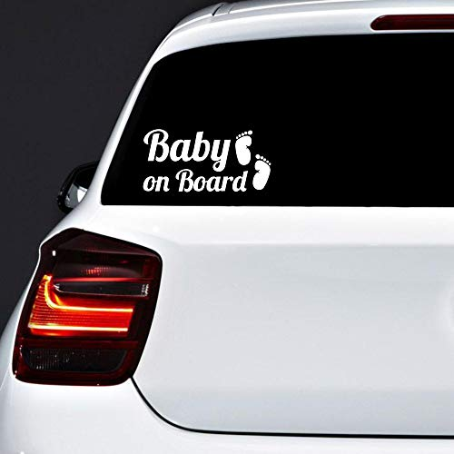 Autodomy Pegatinas Baby On Board Bebé a Bordo Pies Baby in Car Pack 2 Unidades...
