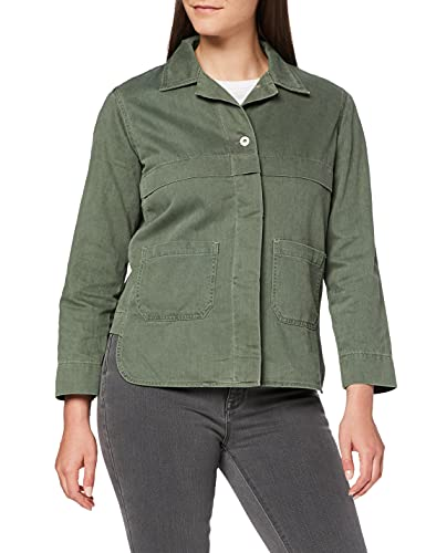 Amazon-Marke: find. Damen Jeansjacke, Grün (Khaki), 40, Label: L