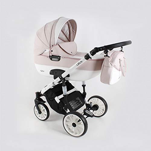 Kinderwagen 3in1 2in1 Set Isofix Buggy Babywanne Autositz Ottis We by SaintBaby White OW-01 4in1 Autositz +Isofix