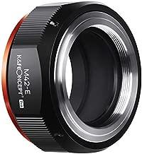 K&F Concept Lens Mount Adapter for M42 Lens to Sony NEX E-Mount Camera for Sony Alpha NEX-7 NEX-6 NEX-5N NEX-5 NEX-C3 NEX-3 with Matting Varnish Design