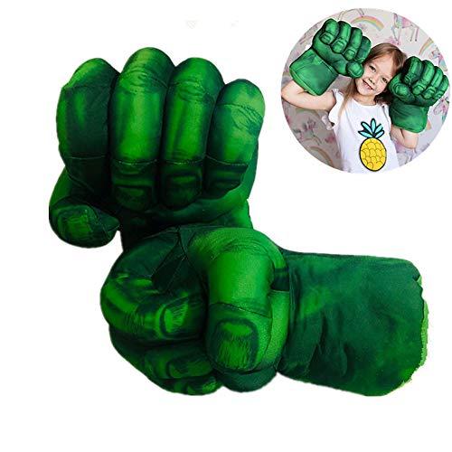 2 / Divertente Costume Supereroi per Guanti Rossi del Partito Hulk Spider-Man guantoni da Boxe Guanto della Mano per i Giocattoli dei Bambini per Bambini