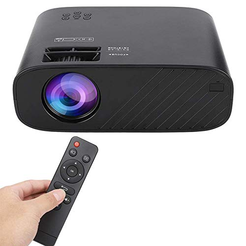 OHHG Mini proyector, proyector LED, 3D 480P 1500 lúmenes Mini proyector Cine casa 30000 Horas Soporte Vida LED HDMI, VGA, TF, AV, USB Compatible TV Stick, PS4, PC, TV