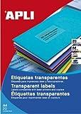 Apli Paper Ref. 1225 Etiquetas Adhesivas Poliéster Transparente L/C A4