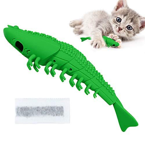 AEITPET Juguetes para Mascotas Cepillo de Dientes del Gato de Juguete Juguetes Interactivo para Gatos con Catnip Juguete de Limpieza de Dientes de Palillo