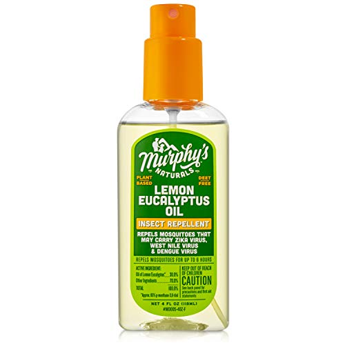 Murphy's Naturals Lemon Eucalyptus Oil Insect Repellent Spray | DEET Free | Plant Based, All Natural Ingredients | Mosquito and Tick Repellent | 4 Ounce Pump Spray