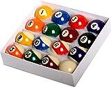 East Eagle Pool Table Billiard Ball Set - 2-1/16' Full 16 Pool Ball Set
