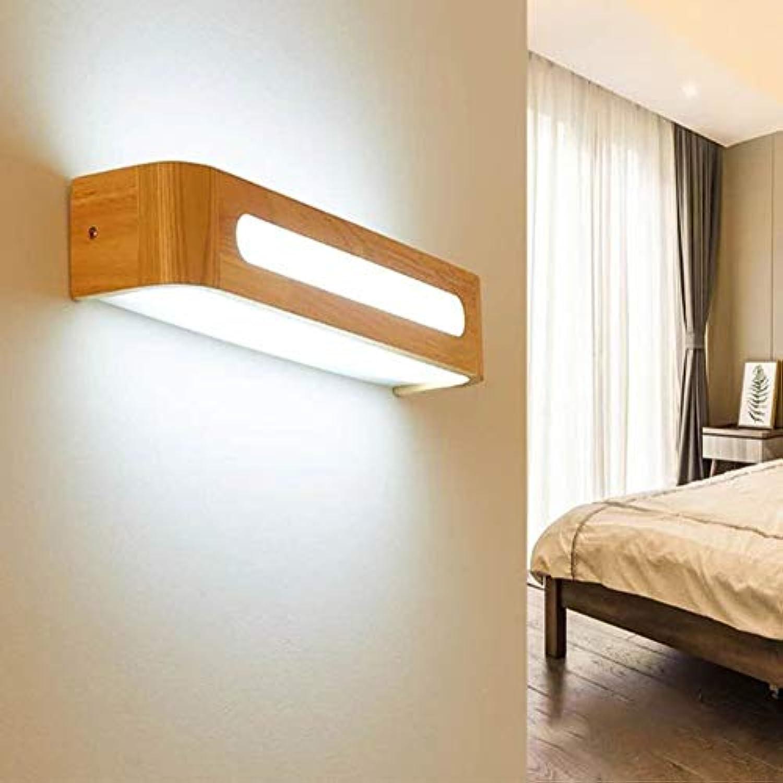 Nordic Mirror Front Wand Lampe Massivholz Make-Up-Lampe Schlafzimmer Lampe Bad Spiegel Scheinwerfer