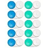 10 Pack Contact Lens Cases, iFwevs Contact Lens Box Left/Right Eyes Holder Container,Portable Mini Contact Lens Soak Storage Kit
