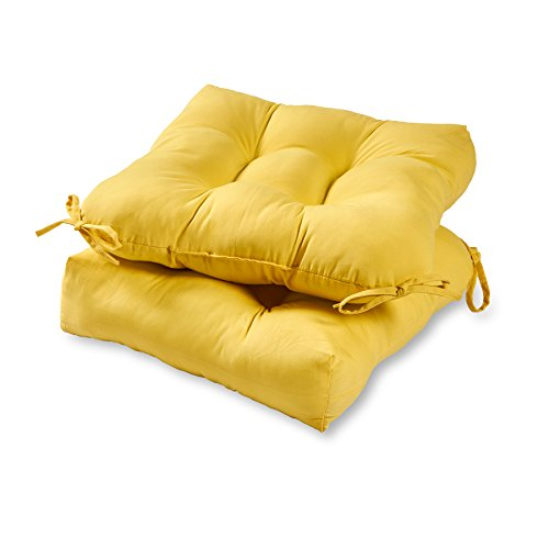 Greendale Home Fashions 20-inch Outdoor Chair Cushion (set of 2), Sunbeam