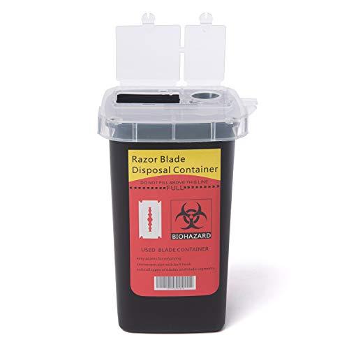 netSalon Razor Blade Afvoer Container Case Afval Opbergdoos Naald Medische Bin Barber Tin Bank Zwart