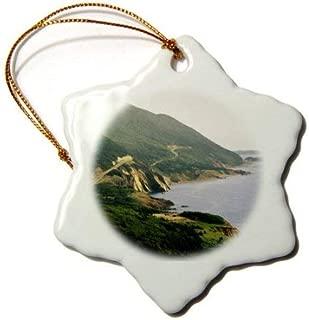 Quietee Cabot Trail, Cape Rouge, Cape Breton, Nova Scotia - CN07 WBI0021 - Walter Bibikow - Snowflake Ornament, Porcelain, 3-inch (ORN BH144290