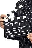 Smiffy's-94033 Miffy Claqueta Estilo Hollywood, 17.5cm x 20cm / 7in x 8in, Color Negro, No es Applicable (94033)
