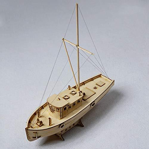 Guiping Decoración 1:30 Barcos Modelo Naves Nax Barco de Pesca Modelo DIY Modelo de Madera Hogar Oficina Decoraciones