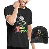 Photo de SOTTK Homme T- T-Shirt Polos et Chemises, Above and Beyond T Shirts Men's Cotton Short Sleeve T-Shirt with Baseball Cap par