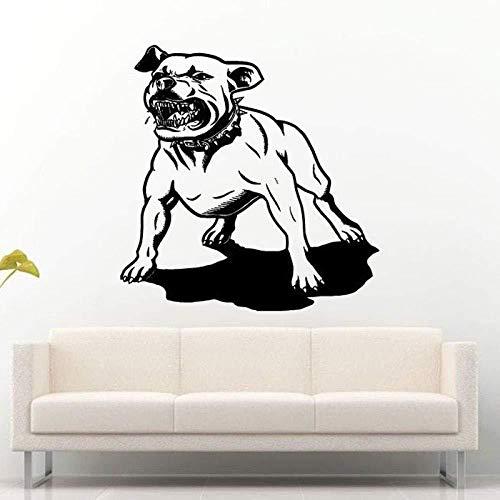 Zykang Wandaufkleber Haustier Pitbull Fighter Dog Bester Freund Wandaufkleber Für Wohnzimmer Home Art Decor Vinyl Wandtattoos Kinder Schlafzimmer Aufkleber 56X56 Cm
