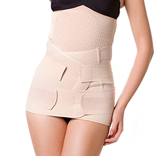 ieasysexy Comfortable Mesh Breathable Ventilation Elastic Postpartum Postnatal Recoery Belly Support Girdle Belt Waist Slimming Belt Pelvic Girdle Gastric Band for Women and Maternity( 3 in 1 )