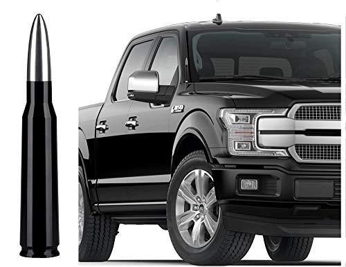HAKANIO Radio Antenna Replacement patible with Ford F150 F250 F350 Raptor Dodge RAM 1500 2500 3500(Silver)
