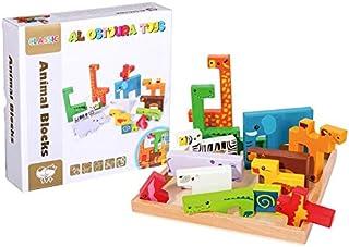 Al Ostoura Toys Animal Blocks Educational Wooden Toy