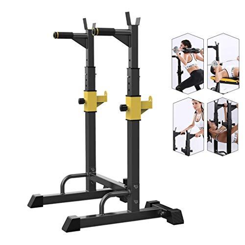 HAOYF Squat Rack Langhantelständer Home Bankdrückgerät Multifunktions-Fitnessgerät Indoor Parallelstangen