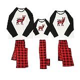 Fossen MuRope Pijamas Familiares para Familia de Mujer Hombre Entero Niña Niño Bebe 'Santa Deer' Pijama Navidad Familia Baratos Invierno Reno
