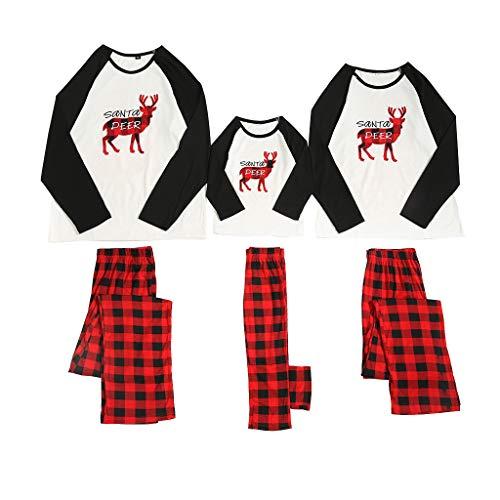 Fossen MuRope Pijamas Familiares para Familia de Mujer Hombre Entero Niña Niño Bebe 'Santa Deer'...