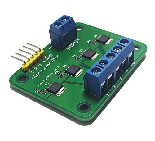 Quad/Tri MOSFET Breakout 30V 15A Low Resistance, High Power, PWM Support, Quality Controlled Switching (Quad)