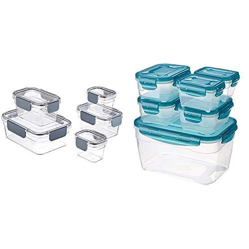 AmazonBasics - Tritan-Frischhaltedose mit Verschluss (5 dosen + 5 deckeln) & 6 pcs Food Storage Set