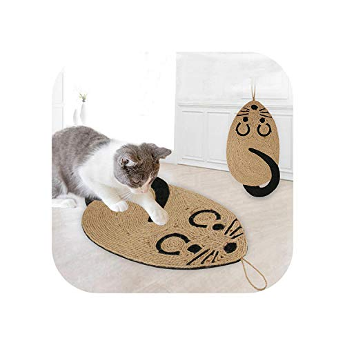 Big Incisor Bikini Multiple Styles Pet Mats  Cute Mouse Shape Cat Scratcher Board Scratch Post Mat Toy For Tower Climbing Tree Pad Pet Cooling Litter Mat Grinding Nails Toy-