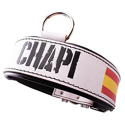 Collar para perro personalizado con la bandera de España.