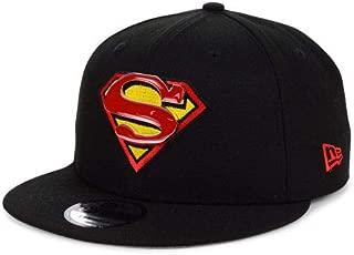DC Comics Superman Metal and Thread 9FIFTY Snapback Cap Black