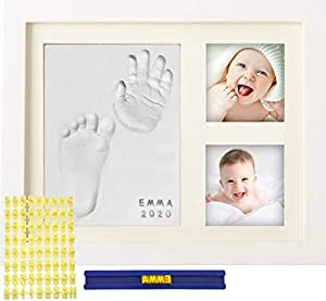 ❤️IF YOU ARE LOOKING FOR THE PERFECT BABY SHOWER GIFT THEN this is it. Our Frame Kit is the BEST KEEPSAKE THAT WILL PRESERVE YOUR BABY'S LITTLE HANDS AND FEET FOREVER; Every time you look at this frame it will bring you joy and happiness; Great decor...