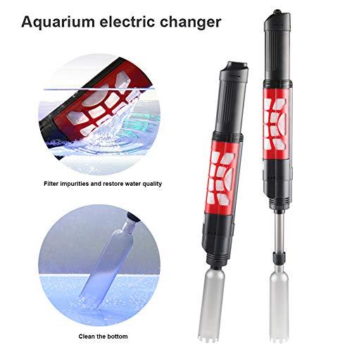 Alftek Aquarium kiezenreiniger, slim, heroplaadbare handautomatische waterwisselaar voor aquarium