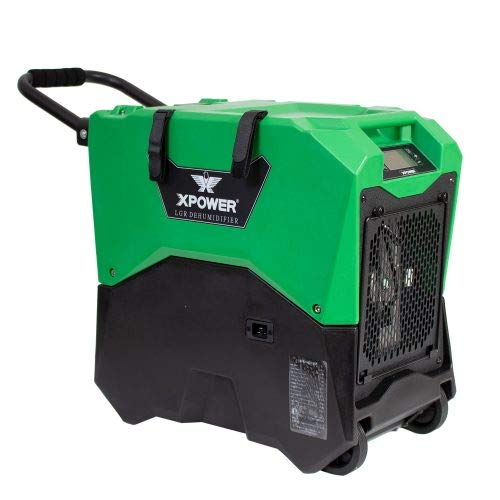 XPOWER XD-85LH Commercial LGR Dehumidifier for Basements and Crawlspaces - Green