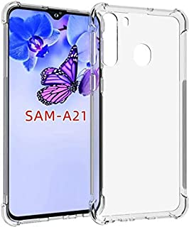 Samsung A21 Case Cover Bumper Shell Soft TPU Silicone Clear Transparent Cover Shockproof Case for Samsung A21 (Clear) by N...