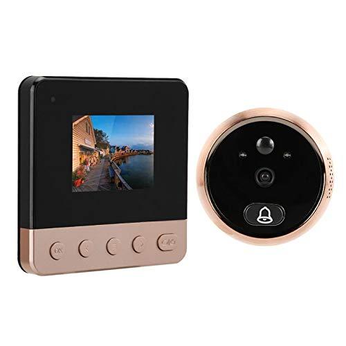 Timbre Nocturno, Compatible con Infrarrojos Noche Día y Modo Nocturno Interruptor automático Foto o Video Se Puede configurar Timbre de Video para Seguridad en el hogar
