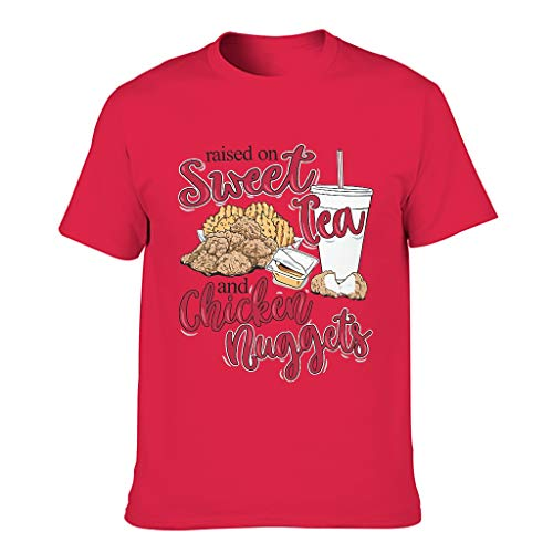 Camiseta para hombre con diseño de pollo, divertida camiseta de manga corta para adultos, ropa diaria Red1 XXXL