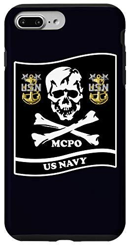 iPhone 7 Plus/8 Plus NAVY MASTER CHIEF SKULL LOGO Case